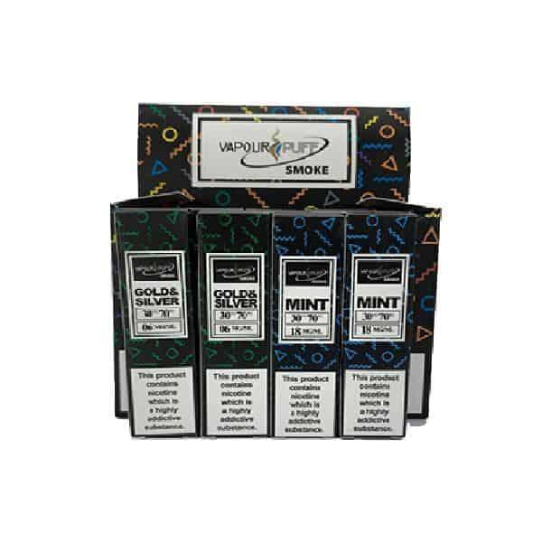 10 x Vapour Puff 12MG 10ML E-Liquid (50VG/50PG)