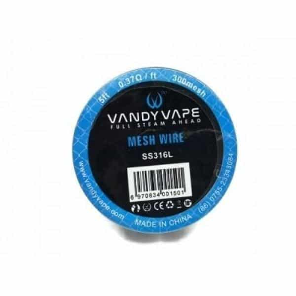 Vandy Vape Mesh Wire SS316L 0.37 Ohm-ft
