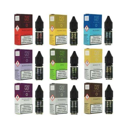 JWN7108054042311 525x525 - 11mg Pod Salt - Flavoured 10ml Nicotine Salt (50VG/50PG)