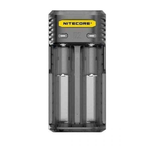 JWNNitecoreQ2clearCharger1 1 525x525 - Nitecore Q2 Charger-  Clear/Black/ Yellow/Pink