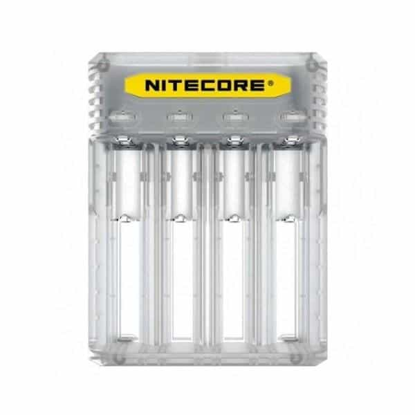 JWNNitecoreQ4Clear 1 525x525 - Nitecore New Q4 Charger -Black/Clear/Pink/Yellow