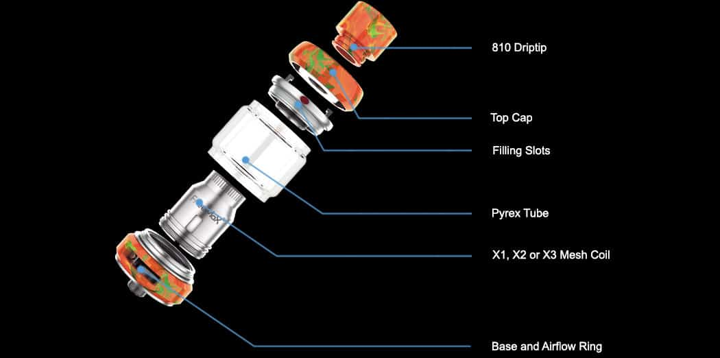 components - FreeMax Mesh Pro Vape Tank