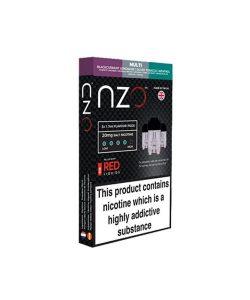 NZO 10mg Salt Cartridges with Red Liquids Nic Salt (50VG/50PG) 3