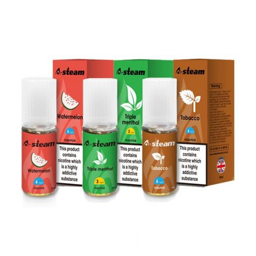 JWNBC0261X00111 422 525x525 - A-Steam Fruit Flavours 12MG 10ML (50VG/50PG)