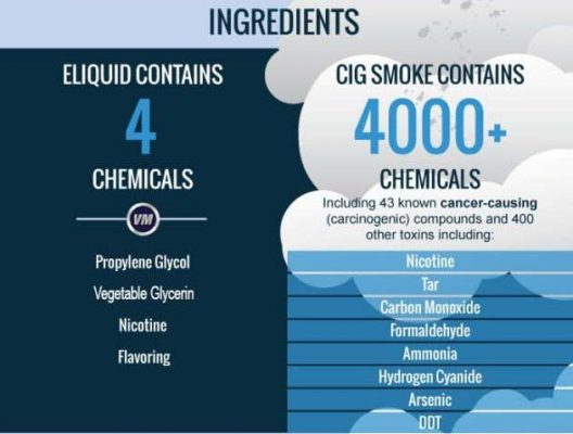 ingredients of eliquid 528x400 - E-Liquid: Fundamental Guide How To Choose The Right One in 2020