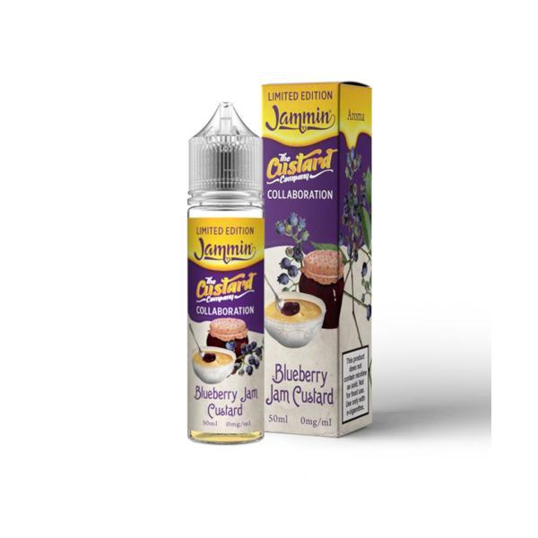 JWNBD0190X0104 525x525 - Jammin Limited Edition 0mg 50ml Shortfill (70VG-30PG) - Blueberry Jam Custard