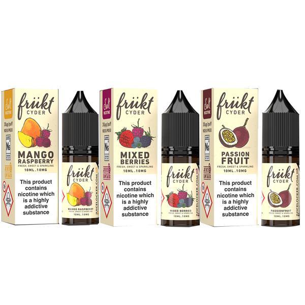 JWNBF0153X0129 10 525x525 - 10mg Frukt Cyder 10ml Flavoured Nic Salts (50VG/50PG)