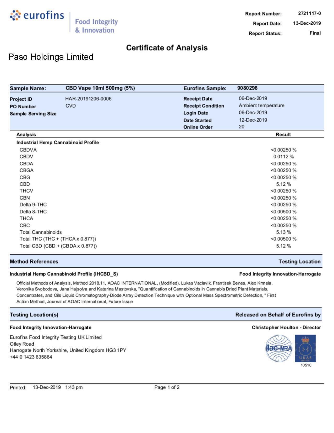 JWNAQ0015X0146 7 525x679 - Paso 500mg CBD Vaping Liquid 10ml (70PG/30VG)