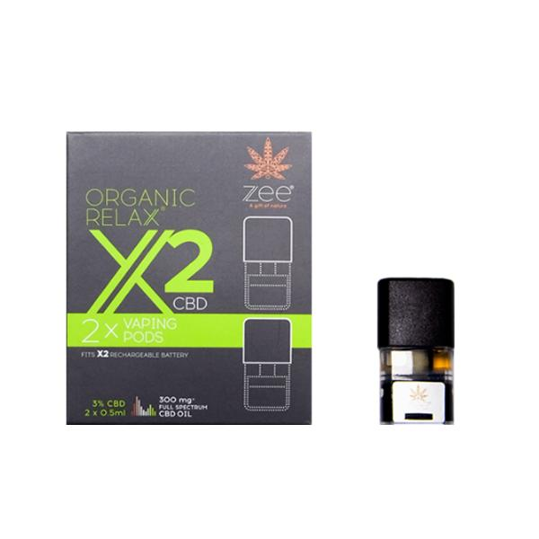 JWNBB0106X0096 525x525 - Zee Organic Relax X2 CBD Replacement Pods 300mg CBD*