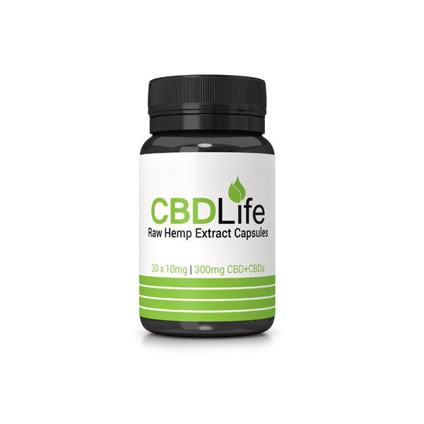 JWNBP0011X0165 525x525 - CBDLife 300mg CBD + CBDa Raw Hemp Extract Capsules 30 Caps