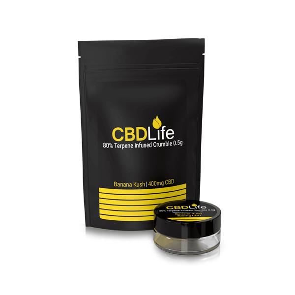 JWNBP0073X0165 525x525 - CBDLife 400mg CBD Terpene Infused Broad Spectrum Crumble 0.5g