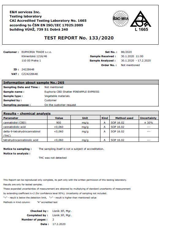 JWNShatterPineappleExpress 1 525x680 - Euphoria 93mg CBD Shatter Pineapple Express 0.1g