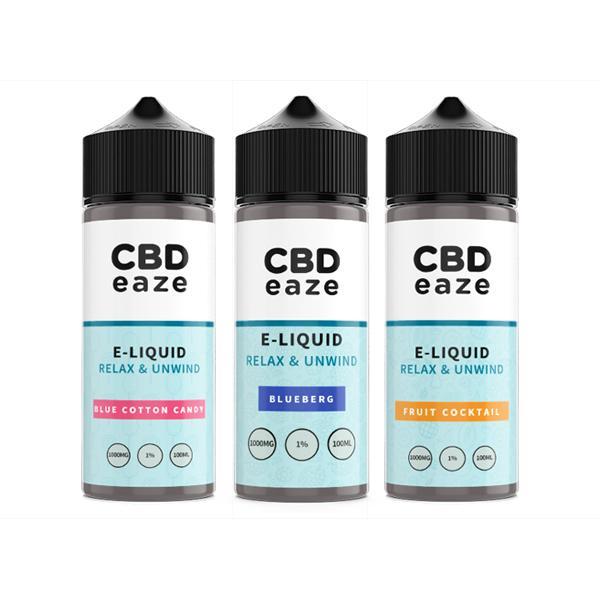 JWNBP0169X0207 1 525x525 - CBDeaze Broad Spectrum 1000mg CBD 100ml E-Liquid (70VG/30PG)
