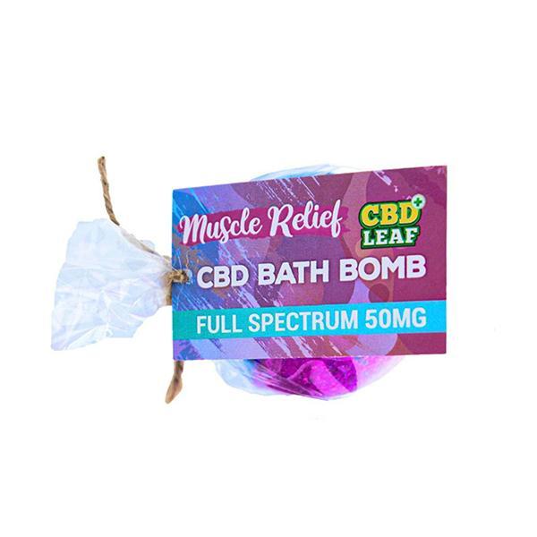 JWNCB100fBathBombuscleRelief 1 525x525 - CBD Leaf 100mg CBD Bath Bomb - Muscle Relief