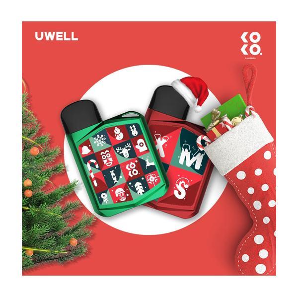 JWNPrimeKitChristmasEdition2 4 525x525 - Uwell Caliburn Koko Prime Kit  (Christmas Edition)
