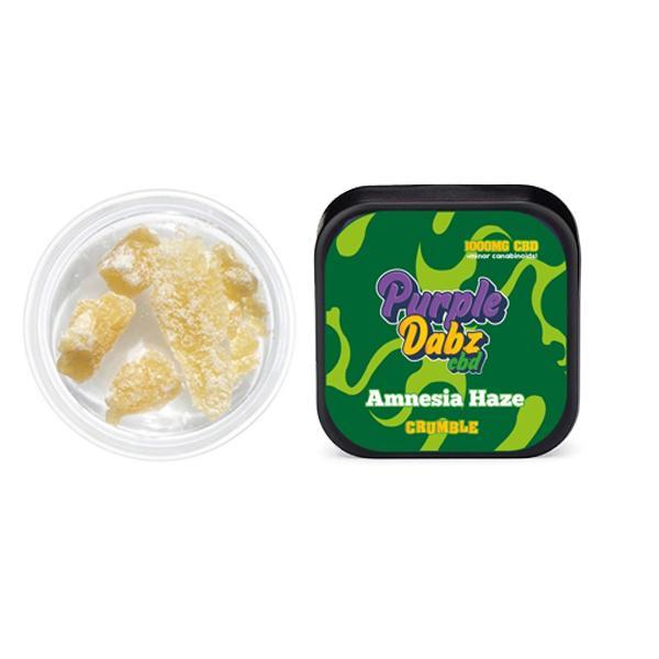 JWNPurpleDabzAmnesiaHaze2 525x525 - Purple Dabz CBD 1000mg CBD Crumble - Amnesia Haze (Buy 2 Get 1 Free)