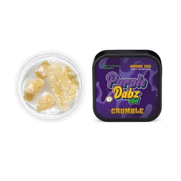 JWNPurpleDabzCBD1000mg1 525x525 - Purple Dabz CBD 1000mg CBD Crumble - Original