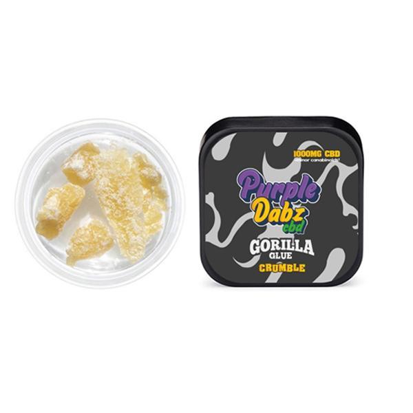 JWNPurpleDabzCBDGorillaGlue1 525x525 - Purple Dabz CBD 1000mg CBD Crumble - Gorilla Glue (Buy 2 Get 1 Free)