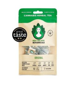 JWNBO0368X0224 250x300 - Body and Mind Botanicals 400mg CBD Cannabis Herbal Tea Bags - Original