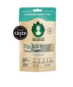 JWNBO0369X0224 250x300 - Body and Mind Botanicals 400mg CBD Cannabis Herbal Tea Bags - Peppermint