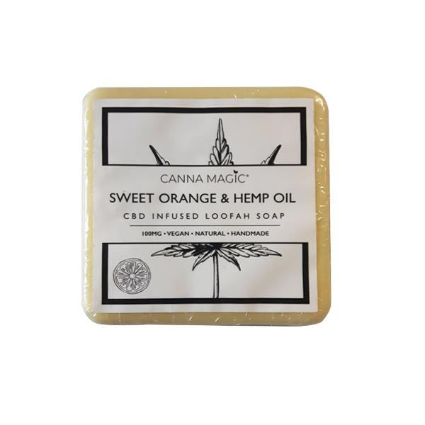 JWNBP0270X0100 525x525 - Canna Magic 100mg CBD Sweet Orange & Hemp Oil Soap 145g