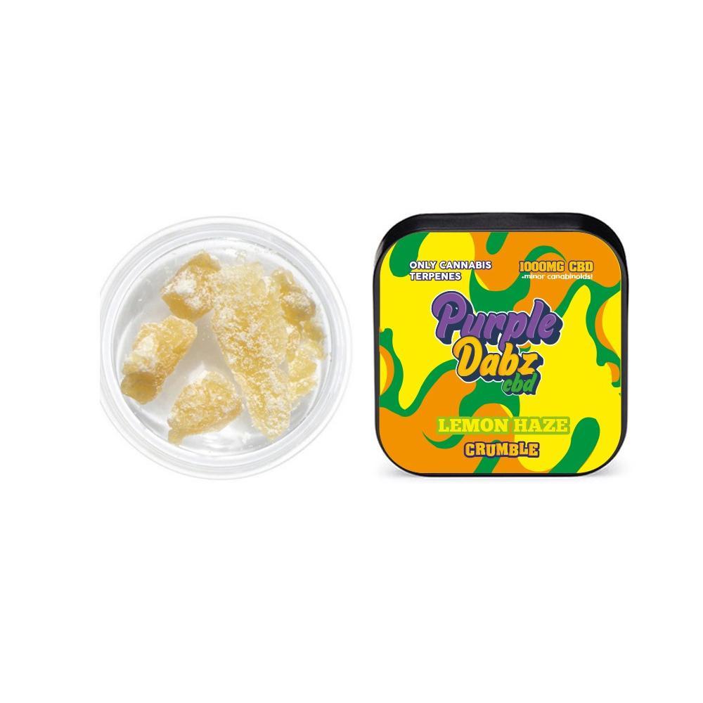 JWNPurpleDabzLemonHaze2 525x525 - Purple Dabz CBD 1000mg CBD Crumble - Lemon Haze