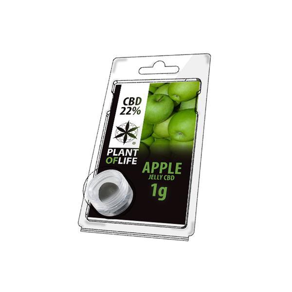 JWNBR0084X0213 148 525x525 - Plant Of Life Fruit Market Jelly 22% CBD 1g - Apple